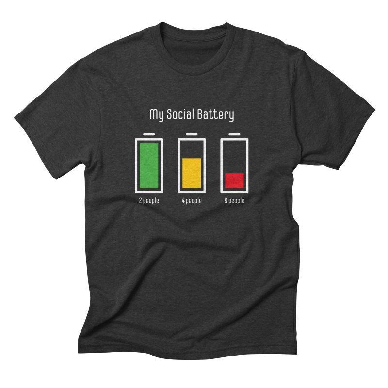 My Social Battery Men's T-Shirt by Freehand