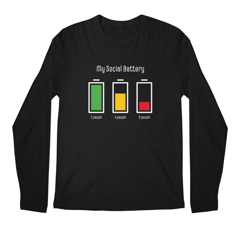 My Social Battery Men's Longsleeve T-Shirt by Freehand