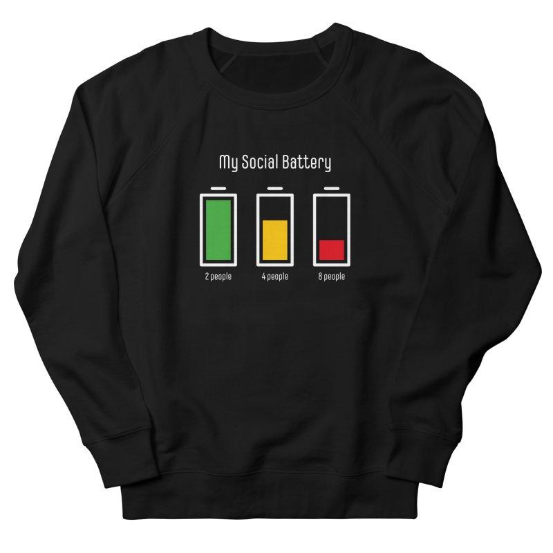 My Social Battery Men's Sweatshirt by Freehand