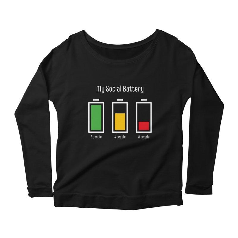 My Social Battery Women's Longsleeve T-Shirt by Freehand