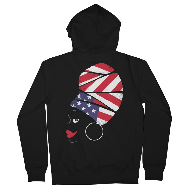 Black American Self-confidence Women's Zip-Up Hoody by Freehand