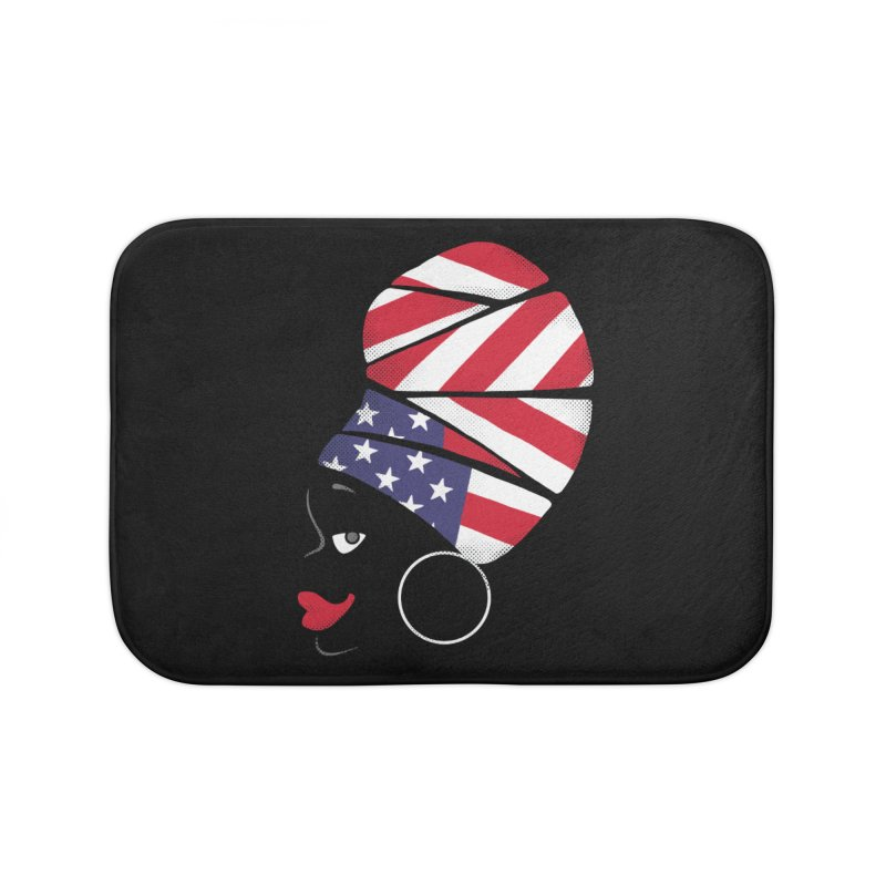 Black American Self-confidence Home Bath Mat by Freehand