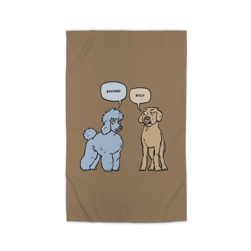 Swearing Dogs Home Rug by Freehand