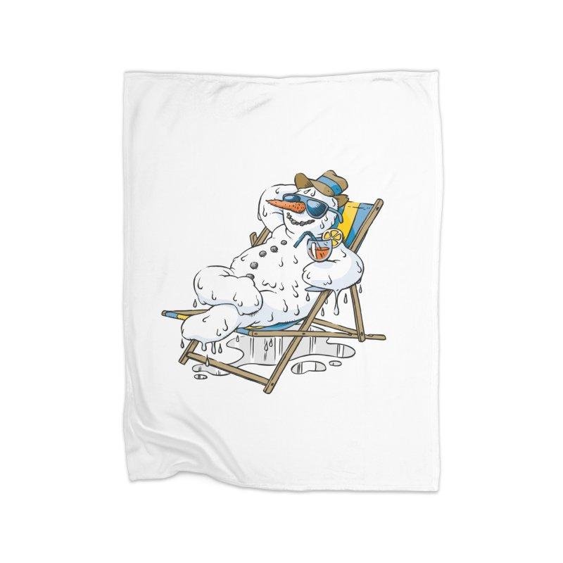 Cool Summer Home Fleece Blanket Blanket by Freehand