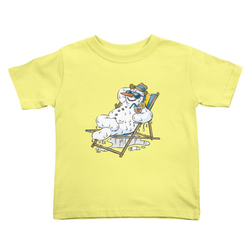Cool Summer Kids Toddler T-Shirt by Freehand