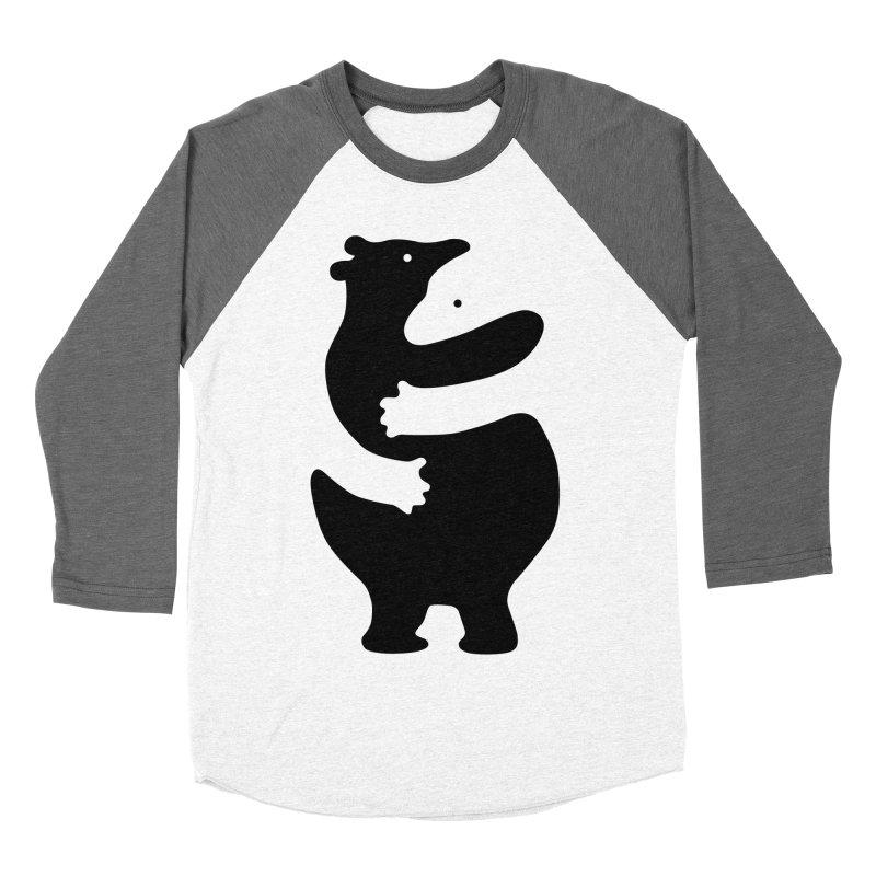 Huggers, black edition Women's Baseball Triblend T-Shirt by Freehand