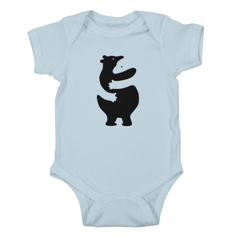 Huggers, black edition Kids Baby Bodysuit by Freehand
