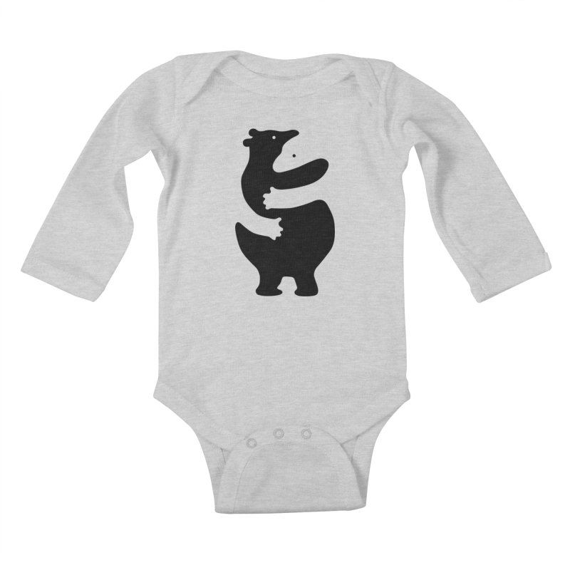 Huggers, black edition Kids Baby Longsleeve Bodysuit by Freehand