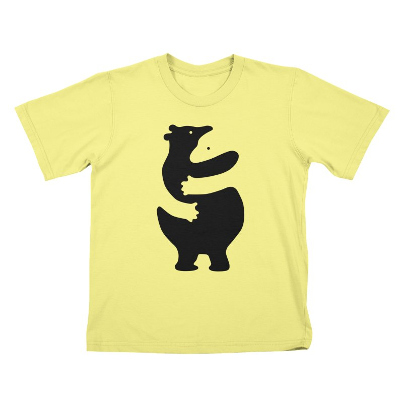 Huggers, black edition Kids T-shirt by Freehand