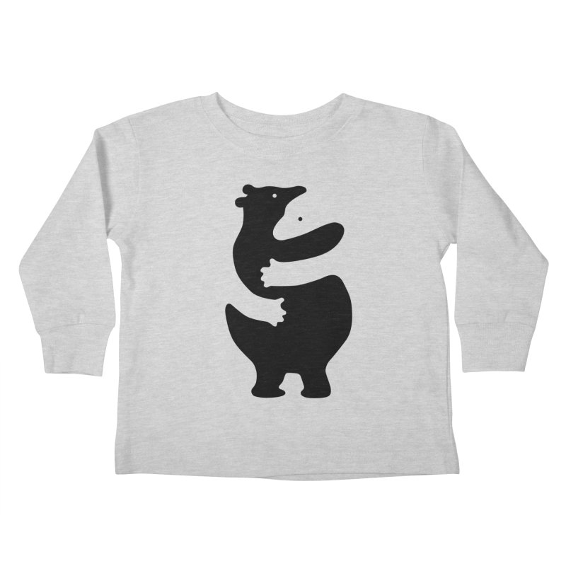 Huggers, black edition Kids Toddler Longsleeve T-Shirt by Freehand