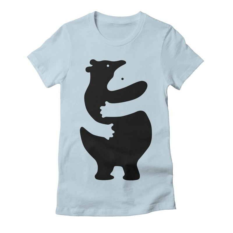 Huggers, black edition Women's T-Shirt by Freehand