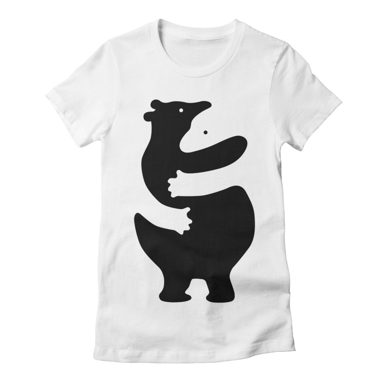 Huggers, black edition Women's Fitted T-Shirt by Freehand