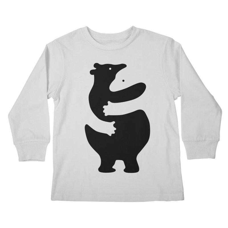 Huggers, black edition Kids Longsleeve T-Shirt by Freehand