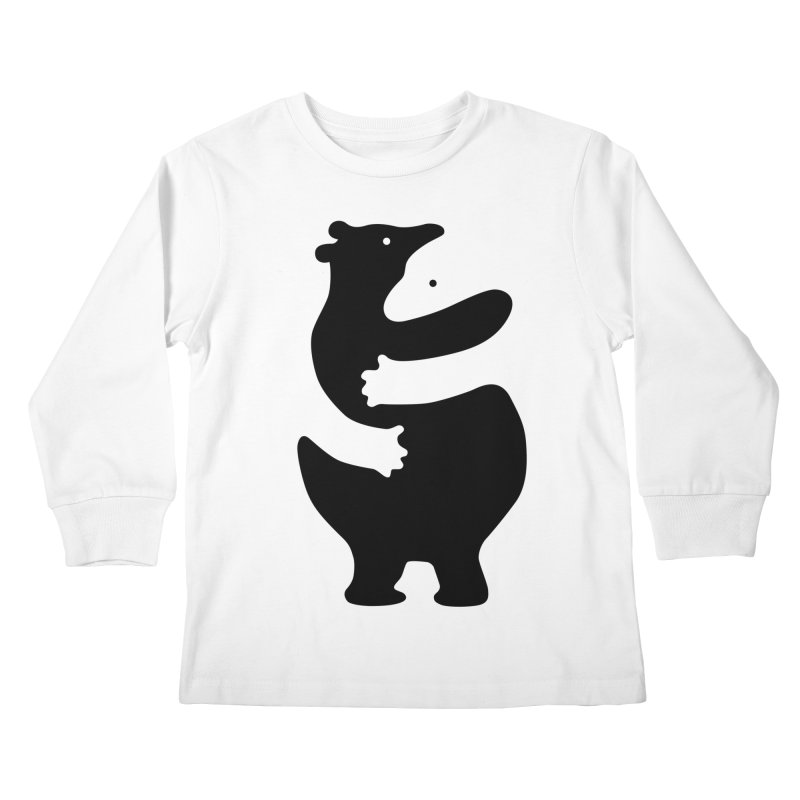 Huggers, black edition Kids Longsleeve T-Shirt by Freehand