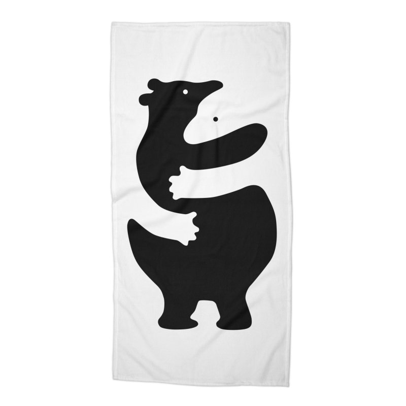 Huggers, black edition Accessories Beach Towel by Freehand