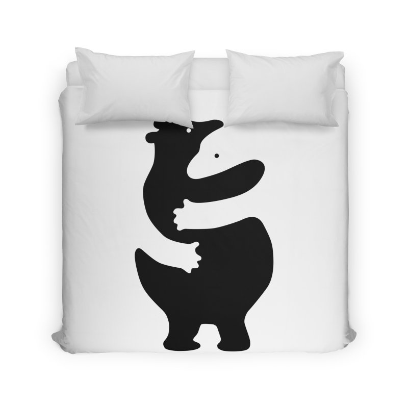 Huggers, black edition Home Duvet by Freehand