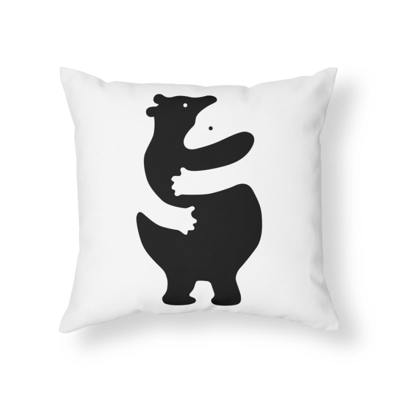 Huggers, black edition Home Throw Pillow by Freehand