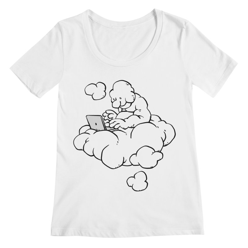 Cloud Computing Women's Scoopneck by Freehand