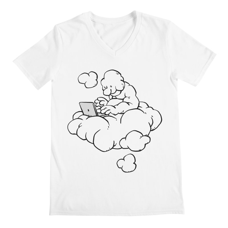 Cloud Computing Men's V-Neck by Freehand