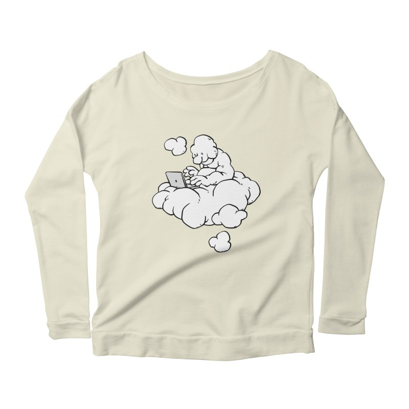 Cloud Computing Women's Longsleeve Scoopneck  by Freehand