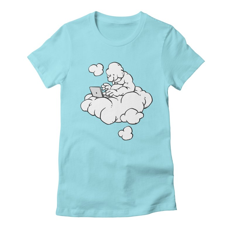 Cloud Computing Women's Fitted T-Shirt by Freehand
