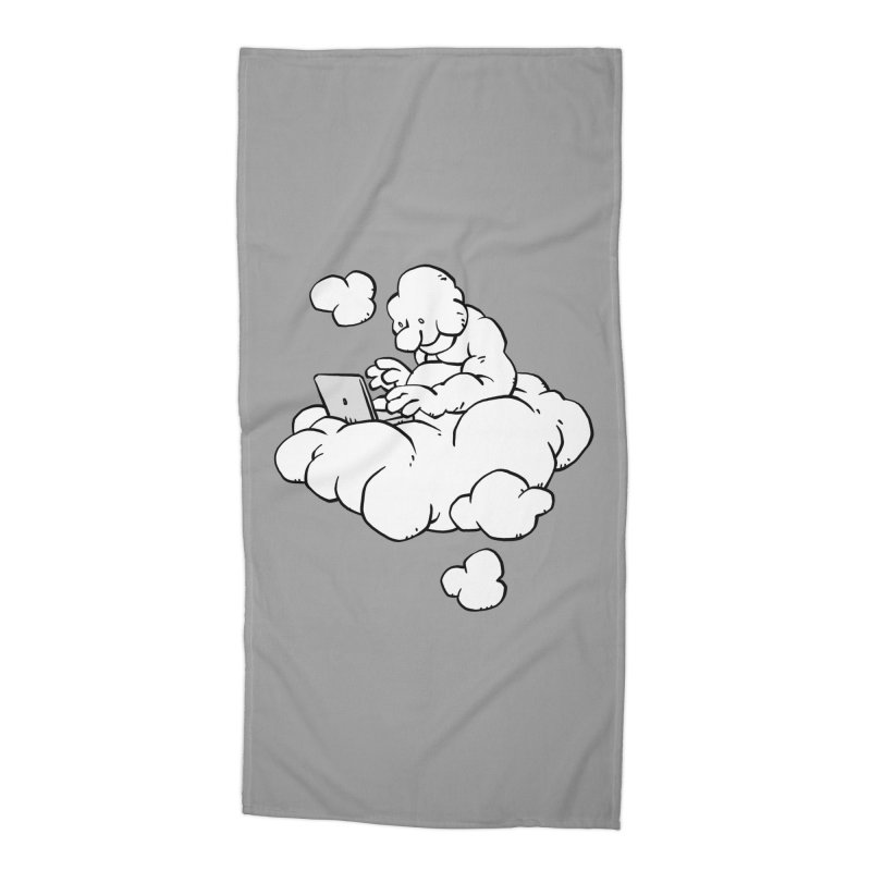 Cloud Computing Accessories Beach Towel by Freehand