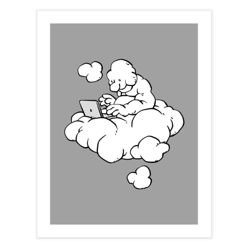 Cloud Computing Home Fine Art Print by Freehand