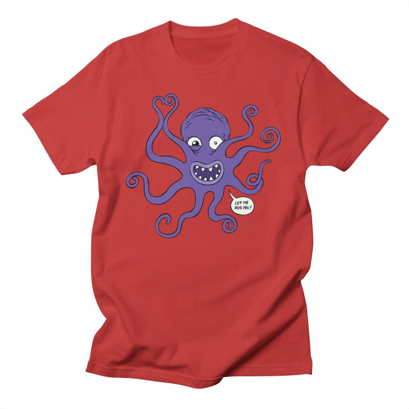 Hugtopus in Men's Regular T-Shirt Red by Freehand