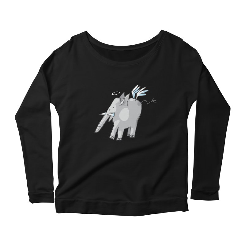 AngelPhant Women's Longsleeve Scoopneck  by Freehand