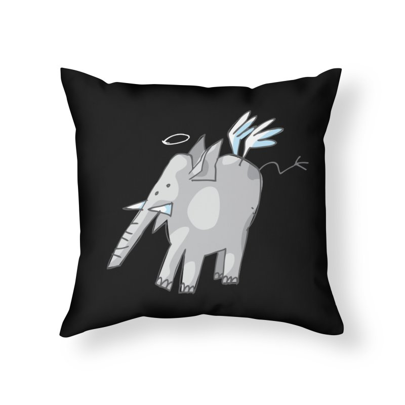 AngelPhant Home Throw Pillow by Freehand