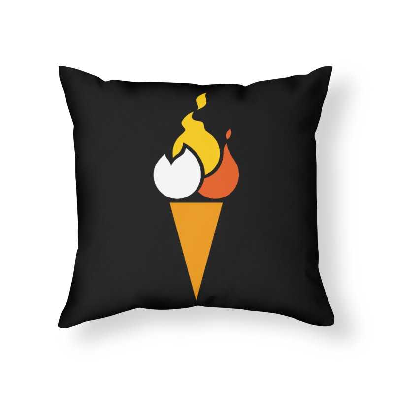 Spicecream Home Throw Pillow by Freehand