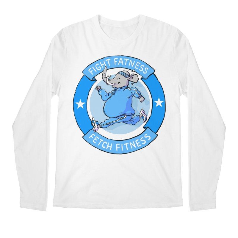 Fight Fatness Men's Regular Longsleeve T-Shirt by Freehand