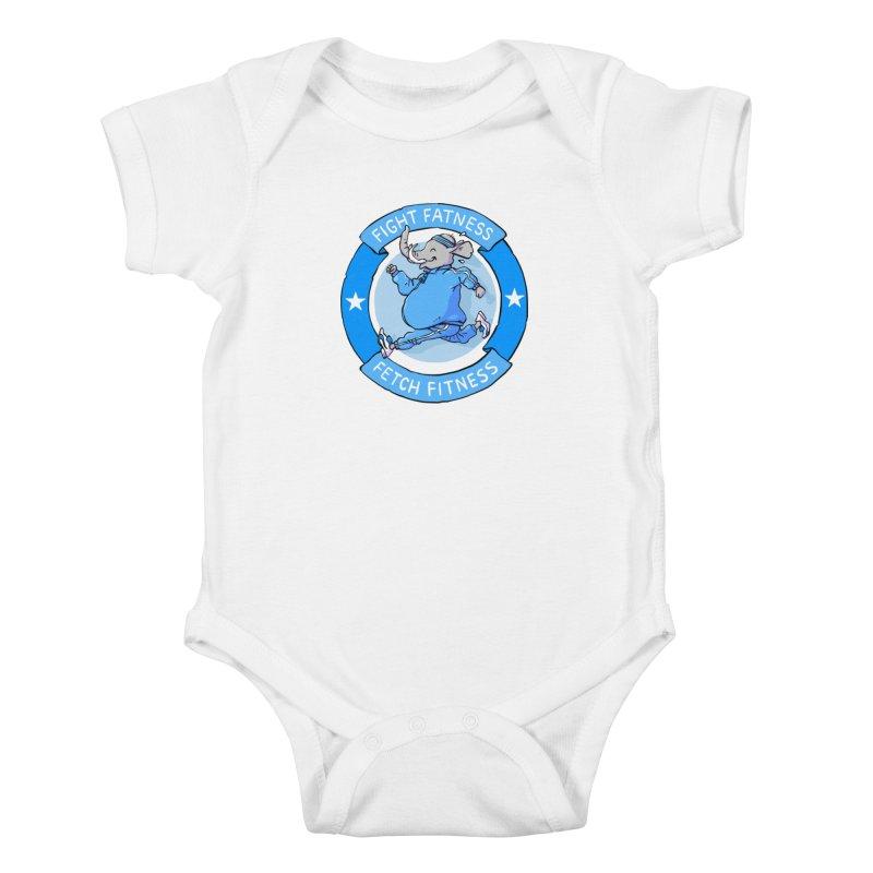 Fight Fatness Kids Baby Bodysuit by Freehand