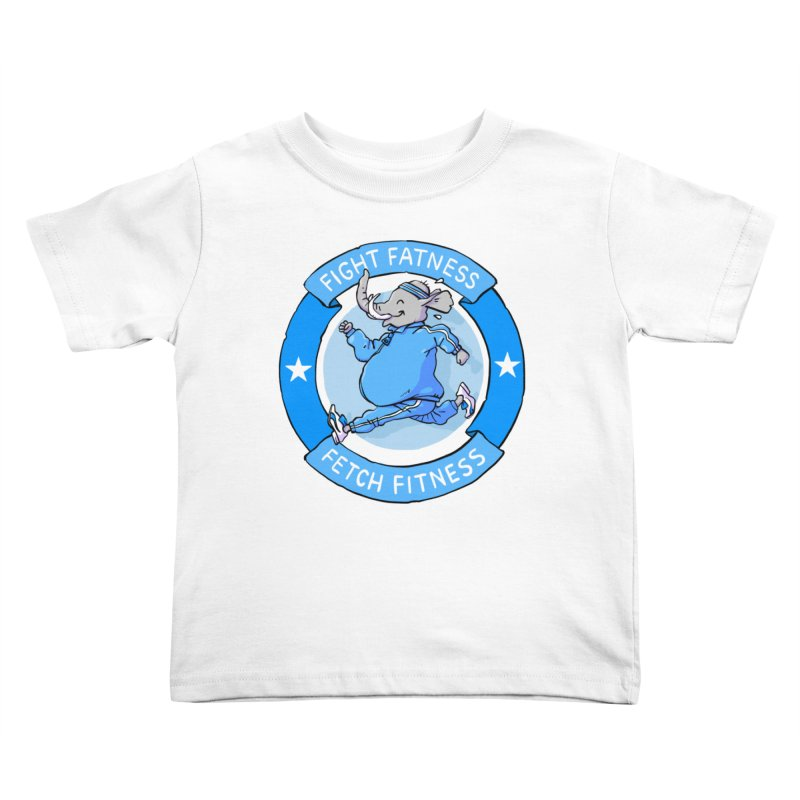 Fight Fatness Kids Toddler T-Shirt by Freehand