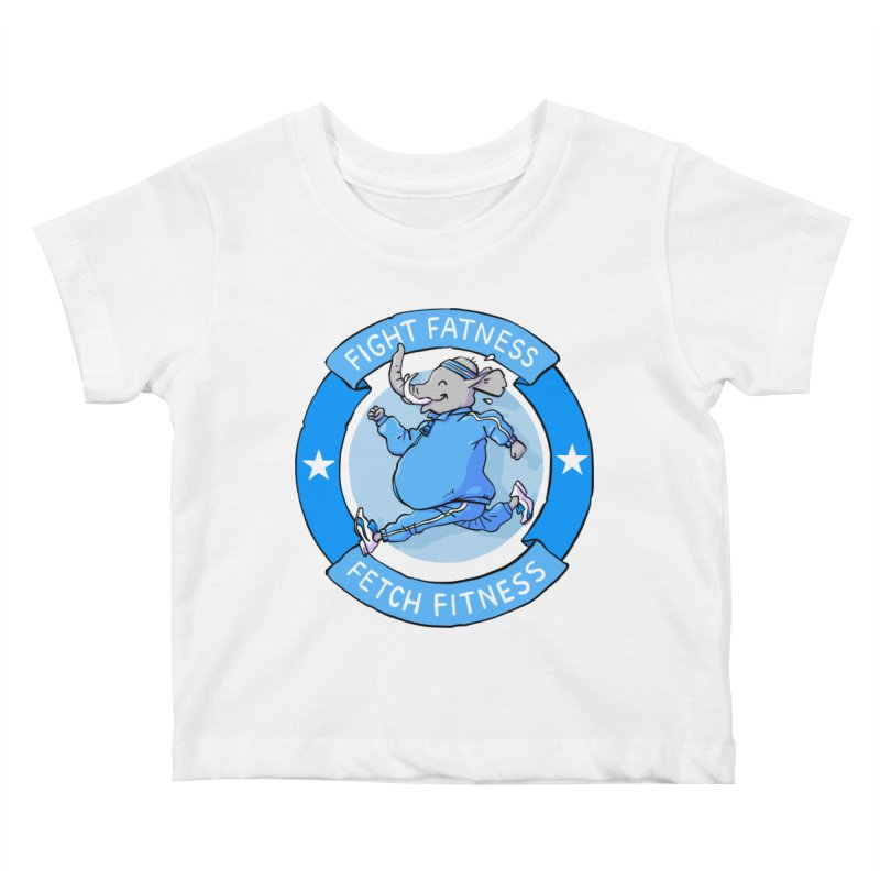 Fight Fatness Kids Baby T-Shirt by Freehand