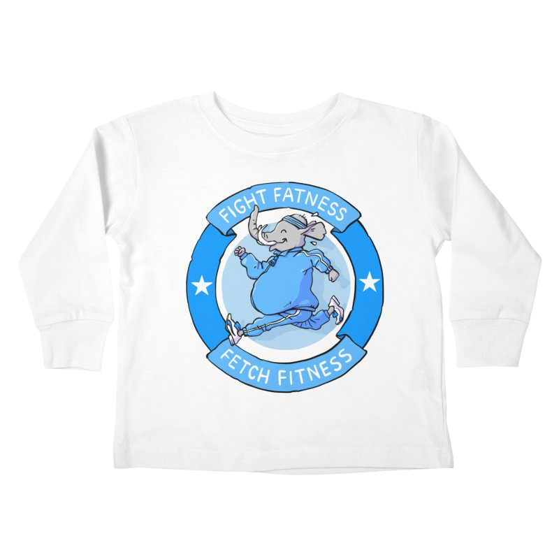 Fight Fatness Kids Toddler Longsleeve T-Shirt by Freehand