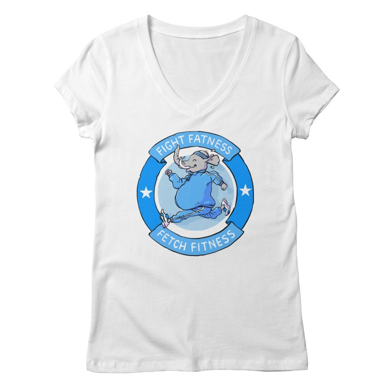 Fight Fatness Women's V-Neck by Freehand