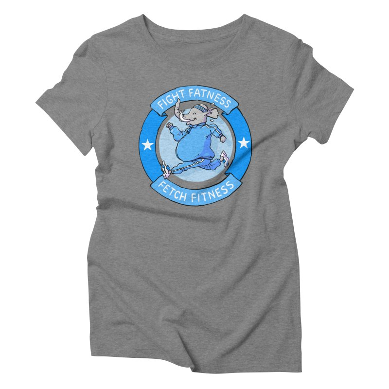Fight Fatness Women's Triblend T-Shirt by Freehand
