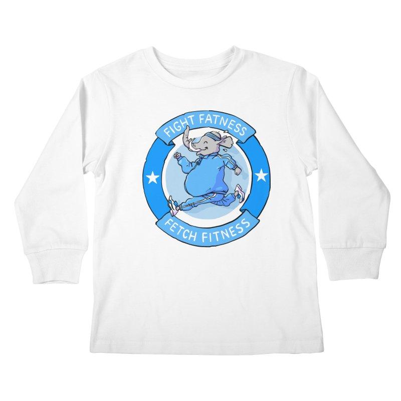 Fight Fatness Kids Longsleeve T-Shirt by Freehand
