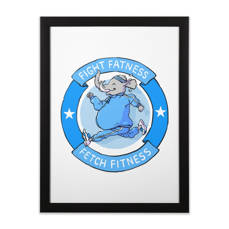 Fight Fatness Home Framed Fine Art Print by Freehand