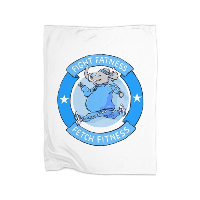 Fight Fatness Home Fleece Blanket Blanket by Freehand