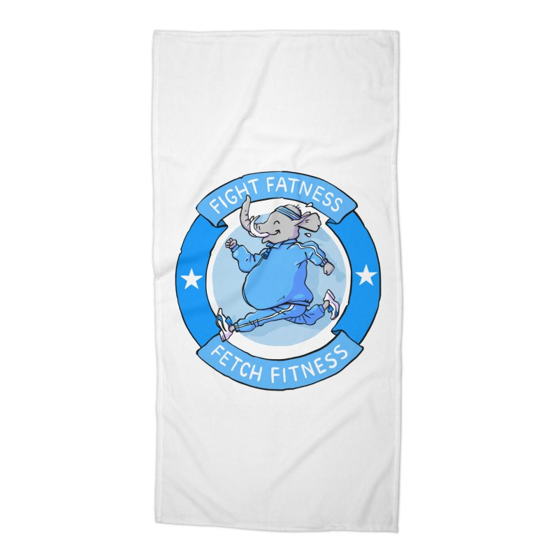 Fight Fatness Accessories Beach Towel by Freehand