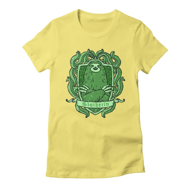 Slotherin Women's Fitted T-Shirt by Freehand