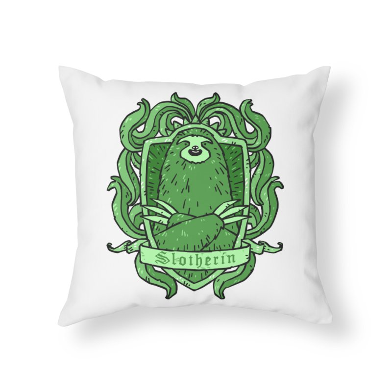 Slotherin Home Throw Pillow by Freehand