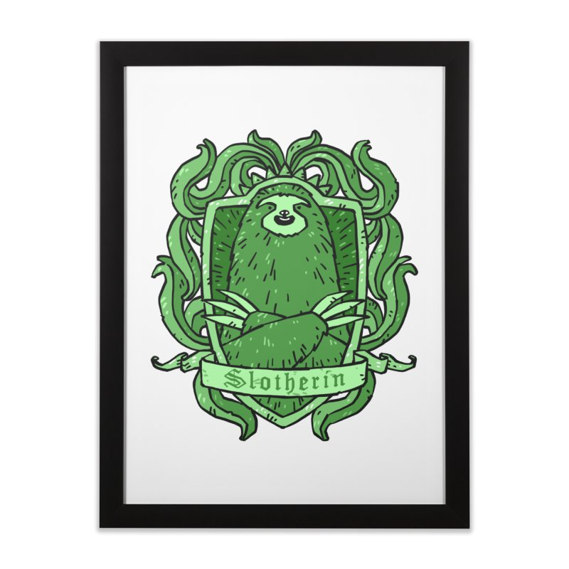 Slotherin Home Framed Fine Art Print by Freehand