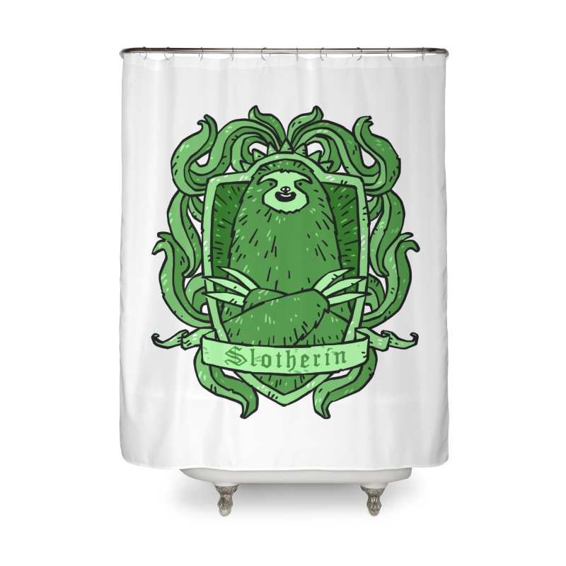Slotherin Home Shower Curtain by Freehand