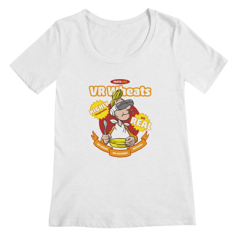 VR Wheats Women's Regular Scoop Neck by Freehand