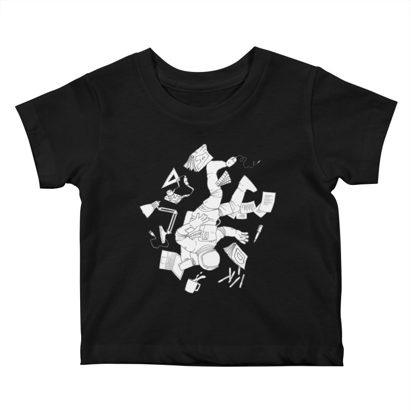 Space Studies Kids Baby T-Shirt by Freehand