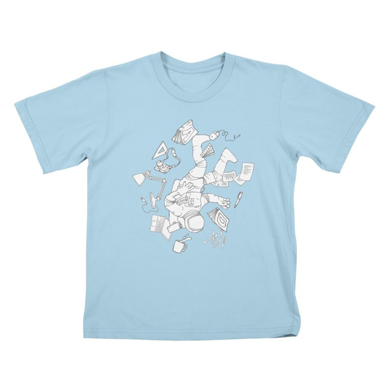 Space Studies Kids T-Shirt by Freehand