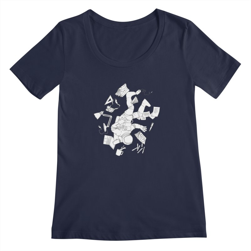 Space Studies Women's Scoopneck by Freehand